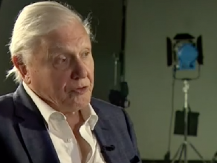 David Attenborough: Business and Politicians Must Save the World