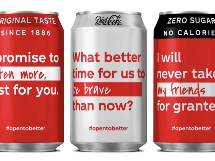 Coca Cola's #opentobetter